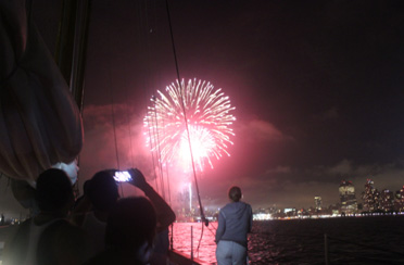Fireworks in New York Harbor