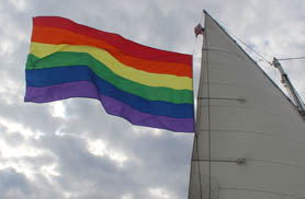 NYC Pride Fireworks Sail on Schooner America 2.0