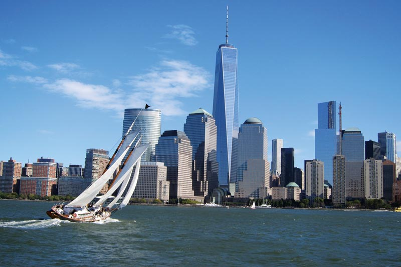 Schooner America 2.0 Sailing on the Hudson into NY Harbor