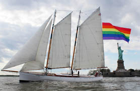 NYC Pride Sail in NY Harbor