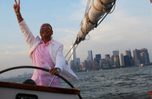 Morimoto aboard Schooner America 2.0